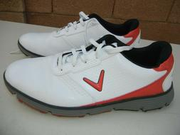 Men's CALLAWAY Golf Shoes, SIZE 11.5, white w/ red accents,