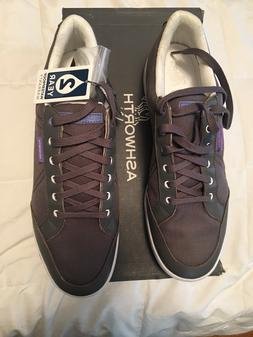 Men's ASHWORTH Gray & White Casual Golf Shoes Sneakers Spike