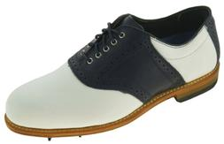 Allen Edmonds Men's Jack Nicklaus Golf Oxford White Navy Sty