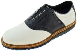 Allen Edmonds Men's Jack Nicklaus Golf Shoe Black and White