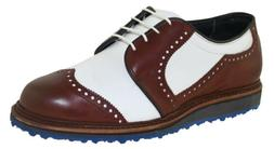 Allen Edmonds Men's Jack Nicklaus Golf Shoe Brown White Styl