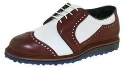 Allen Edmonds Men's Jack Nicklaus Golf Shoe Brown White Styl