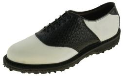 Allen Edmonds Men's Redan Golf Shoe White Black Style 0931 2