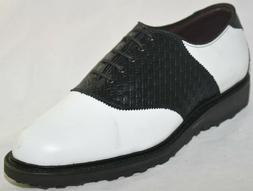 Allen Edmonds Men's Redan Golf Shoe White Black Style 0931,