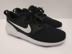 Nike Men's Roshe G Golf Shoes Black Metallic White AA1837 00