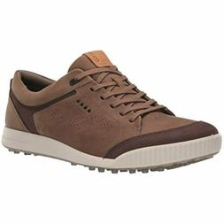 ECCO Men's Street Retro Hydromax Golf Shoe, Birch/Coffee Cam