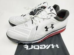 Under Armour Men's Tempo Tour Golf shoes Cleats White Red Ca
