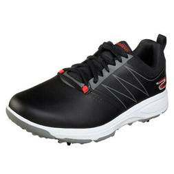 Skechers Men's Torque Waterproof Golf Shoe, Black/red, 9 M U