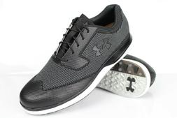Under Armour Men's UA Tour Tips Knit SL Golf Shoes Black Gra