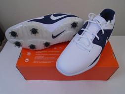 Nike Men's Vapor Pro Golf Shoes White Navy Blue AQ2197-100 S