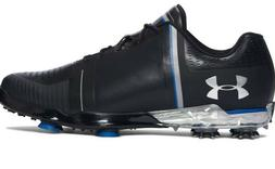 Men UA Under Armour Jordan Spieth One Golf Shoe Black Blue 1