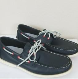 Canoos  Mens Blue  Leather Boat Golf Shoes US Size 13