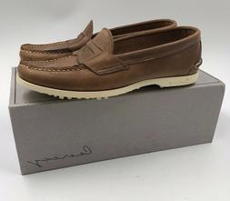 Canoos Mens Brown 9.5D Leather Boat Golf Shoes  Hand sewn Ma