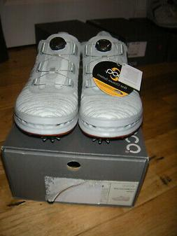 ECCO MENS CAGE BOA GOLF SHOES SHADOW/WHITE SZ 46 US  12- 12.