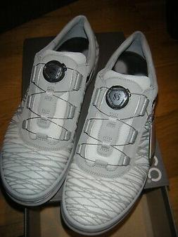 ECCO MENS CAGE BOA GOLF SHOES SHADOW/WHITE SZ 45 US  11 - 11