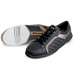 Mens Brunswick CAPTAIN Black/Gold Bowling Shoes Sizes 7, 7 1