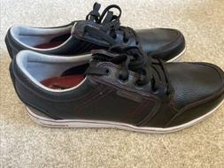 Ashworth Men's Cardiff ADC Spikeless Black & Red Leather G