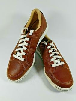 Ashworth Mens Cardiff Golf Shoes Brown G54214 Lace Up Waterp