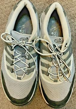 Mens Bite Cleat Golf Shoe Size 10.5 M Gray Taupe White Black
