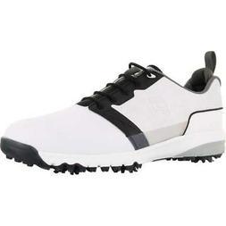 mens contour fit golf shoes white black