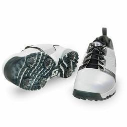 FootJoy Mens Contour Fit Golf Shoes White/Black 54091 Multi