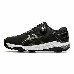 Asics Mens Duo Boa Golf Shoes Medium Width - Black/Gunmetal
