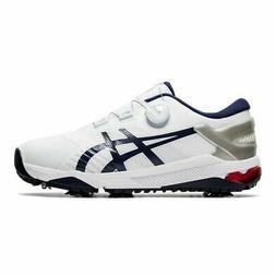 Asics Mens Duo Boa Golf Shoes Medium Width - White/Blue - Ne