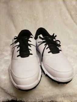 Mens Nike Durasport 4 Golf Shoes White Silver Black 844550-1