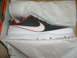 NIKE Mens Explorer 2 Golf Shoes Anthracite/White/Orange Choo