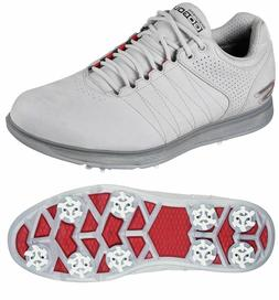 Mens SKECHERS GO GOLF PRO 2 LX Shoes Cleats Spikes Gray Red