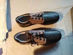 mens golf shoes 9.5 Ashworth Cardiff Saddle Black/Iron/Gumi