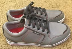 Mens Ashworth Gray Leather Lace-up Golf Shoes Size 10.5 NEW