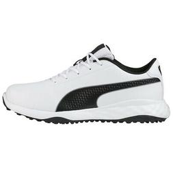 PUMA Mens Grip Fusion Classic White/Black Golf Shoes Size 9
