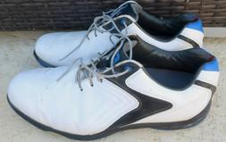 MENS FOOTJOY HYDROLITE 50031 BLUE AND WHITE GOLF SHOES SIZE