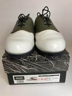 Ashworth Mens Kingston Leather Saddle Golf Shoes Mens Size 9
