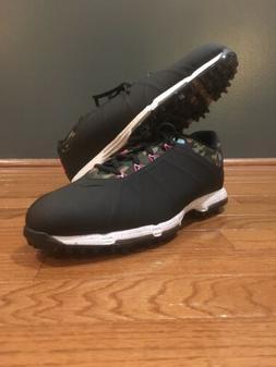 Nike Mens Lunar Fire Golf Shoes Cleat, Black Camo, 861458-00