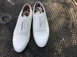 Mens Ashworth NEW classic saddle metal spikes golf shoes siz