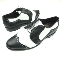 Mens NEW Allen Edmonds Honors Collection Black and White Gol