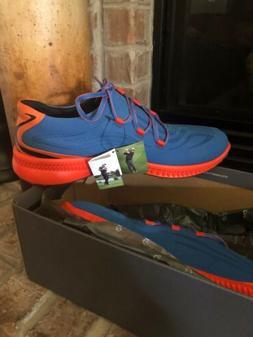 Mens ECCO S-Drive Golf Shoes Size 11/11.5 Bermuda Blue/fire
