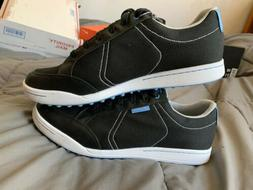 Ashworth Mens Size 12.5 Spikeless Golf Shoes  Black/Blue Hyb
