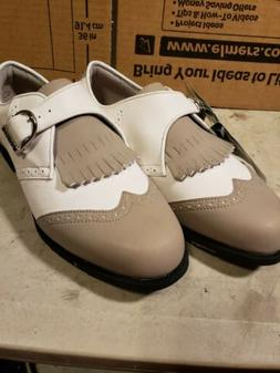 Mens Size 9.5 Ashworth White Classic Waterproof Golf Shoes