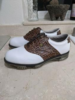 Footjoy Men's Size 9.5 XW Wide Dryjoy Tour Golf Shoes Whit