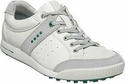 Ecco Mens Street Premiere Golf Shoe Spikeless - Concrete/Whi