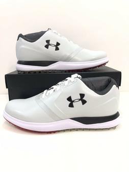 Under Armour Mens UA Performance SL Spikeless Golf Shoes Whi
