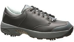 Oregon Mudders Mens Waterproof Golf Shoes Black w Spikes Oxf