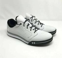 Under Armour Mens White Spike less Golf Shoes Size 9 UA Temp