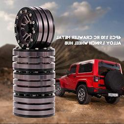 LtrottedJ 4pcs Metal Alloy 1.9in Wheel Rim Beadlock for 1/10