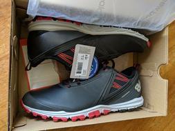 New Balance Minimus SL Black/Red Golf Shoes Spikeless Men's