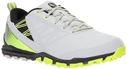 New Balance Men's Minimus SL Golf Shoe, Grey/Green, 13 2E US
