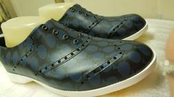^^^Biion Navy Black Polka Dot Display model Golf Shoes Mens